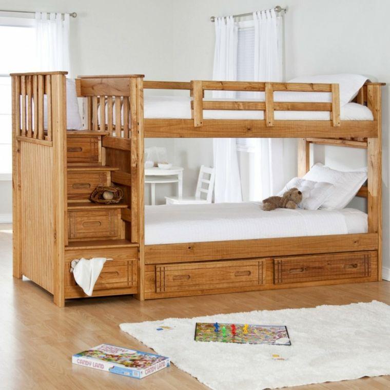 Diseños de camas para niños en madera - 24 imágenes - | Cama litera ...