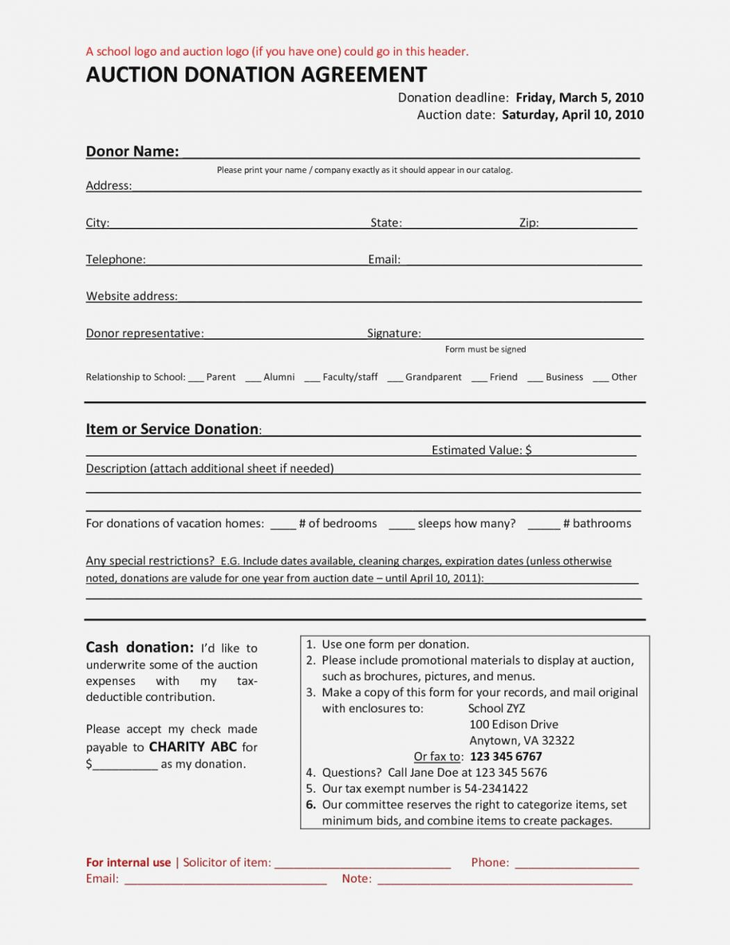 Explore Our Example Of Charitable Donation Agreement Template For Free Charitable Donations Auction Donations Agreement