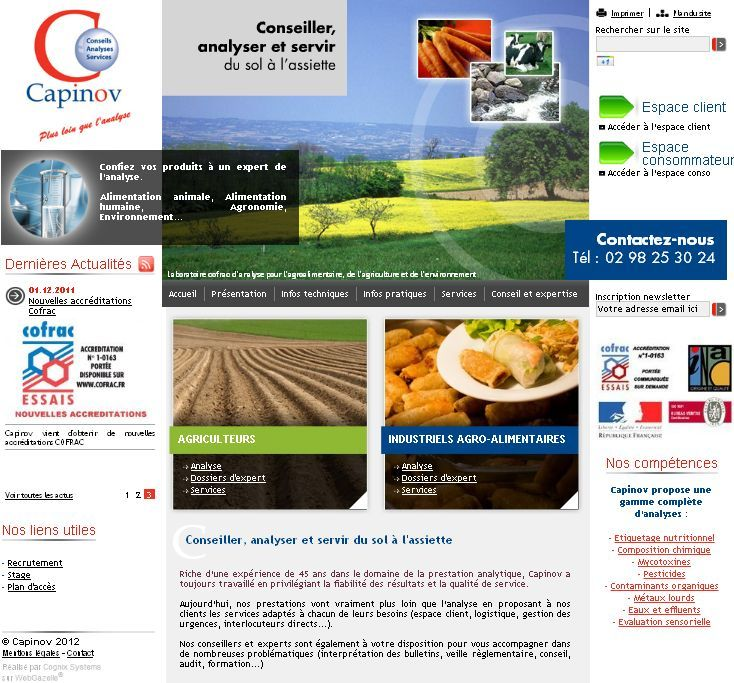 Capinov Laboratoire Cofrac Pour Les Agriculteurs Et Les Industries Agroalimentaires Agroalimentaire Alimentation Animale Laboratoire