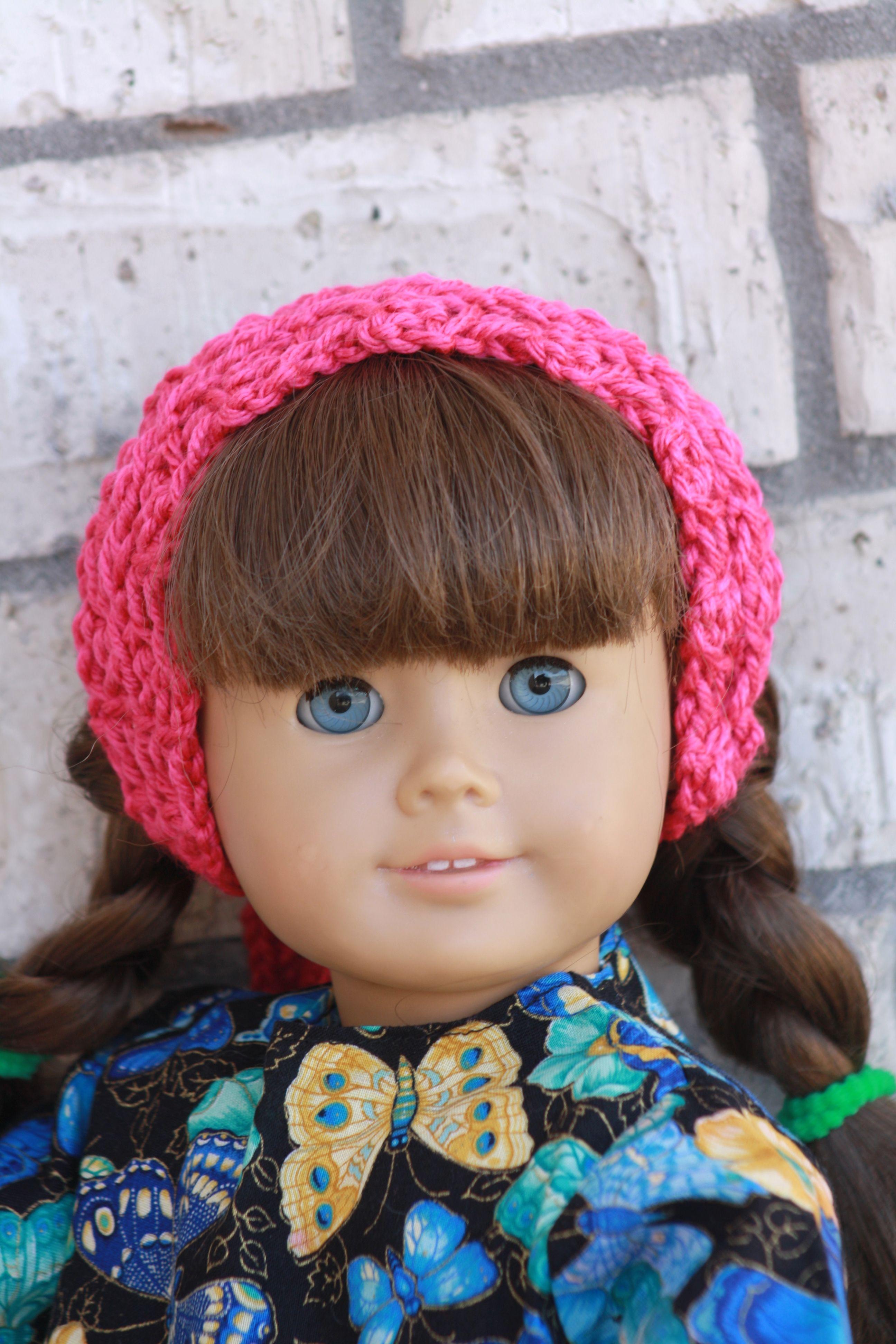 My New Design American Girl Sized Crochet Tie Headband