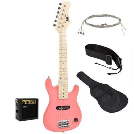 Best Choice Products 30in Kids Electric Guitar Beginner Starter Kit W 5w Amplifier Strap Case Strings Picks Pink Walmart Com Guitar Kids Electric Guitar Kids Electric Guitar