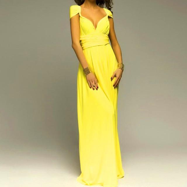 e8ca07c11f59 way Wrap Convertible Boho Maxi Club Red Dress Bandage Long Dress Party  Bridesmaids Infinity Robe Longue Femme