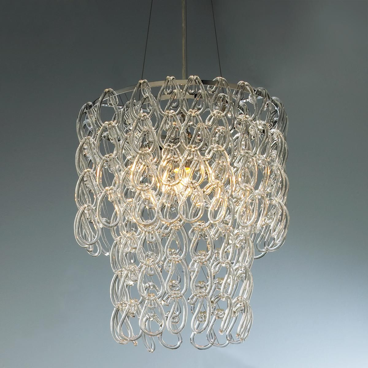 Round Glass Chain Chandelier Glass Pendant Shades Chandelier Shades Modern Chandelier