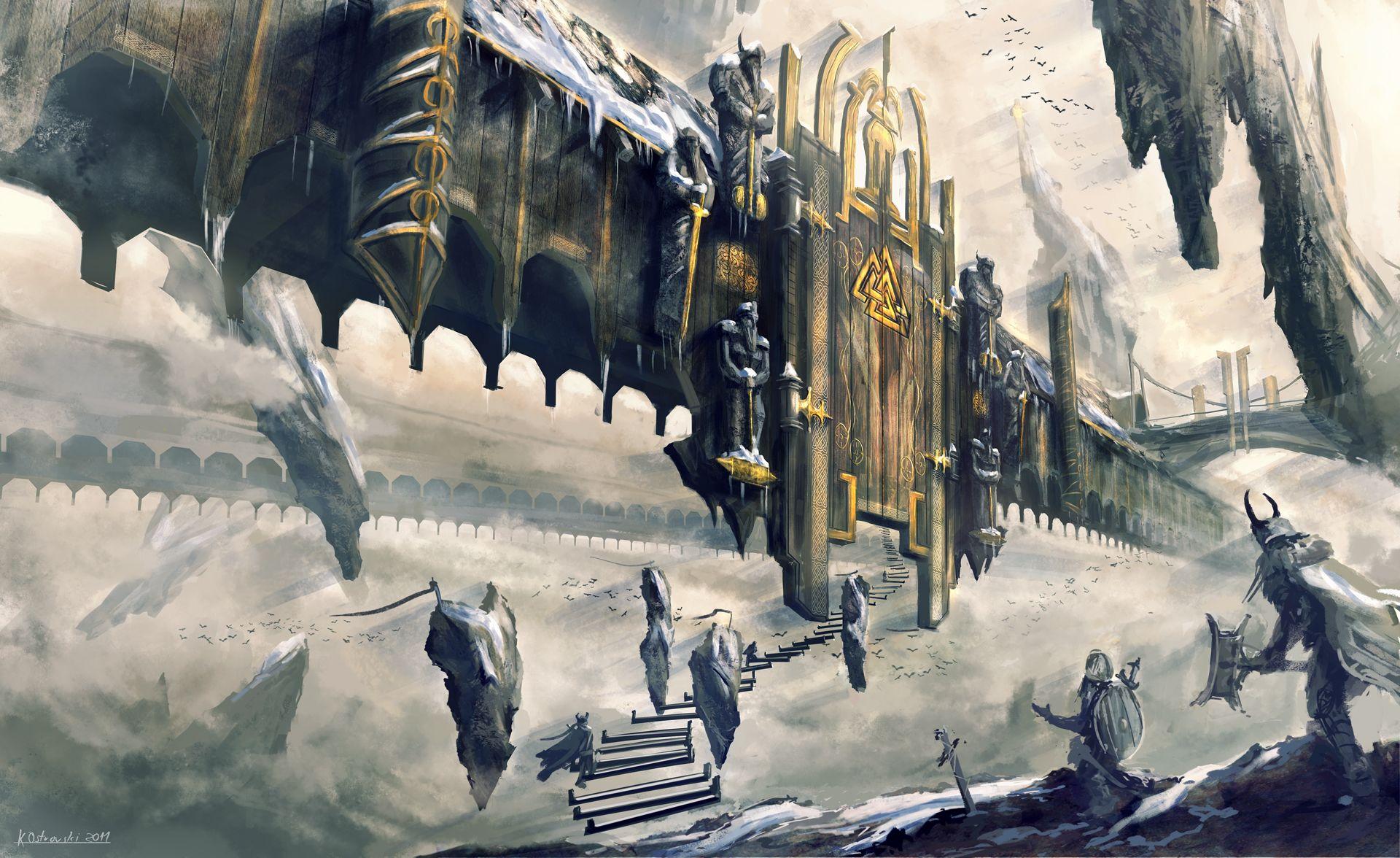 Mount Olympus   God of War II Art &- Pictures   Pinterest   Mount ...