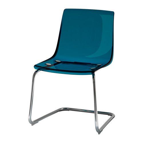 Ikea Tobias Blue Chrome Plated Chair Bdg Clients Ikea