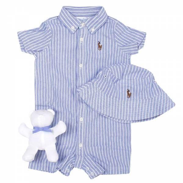 buy online a1e9f e3a17 Polo Ralph Lauren Infant | Completo box tutina oxford con ...