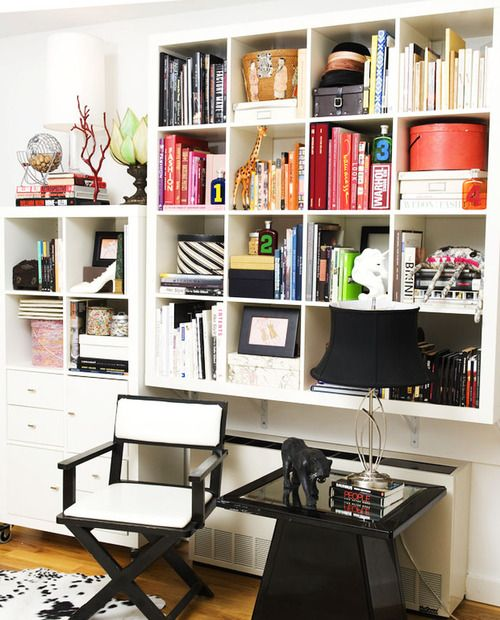 20 Home Office Bookshelves Designs Ideas: Bookshelves Lined With Pretty Things. Make Your Space