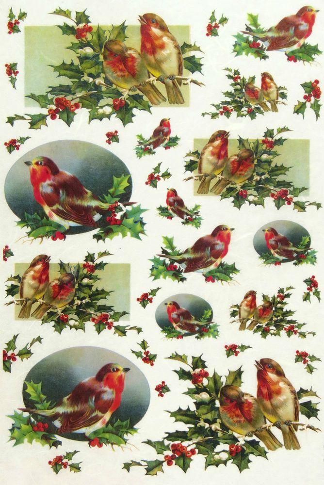 Ricepaper / Decoupage paper, Scrapbooking Sheets Robin