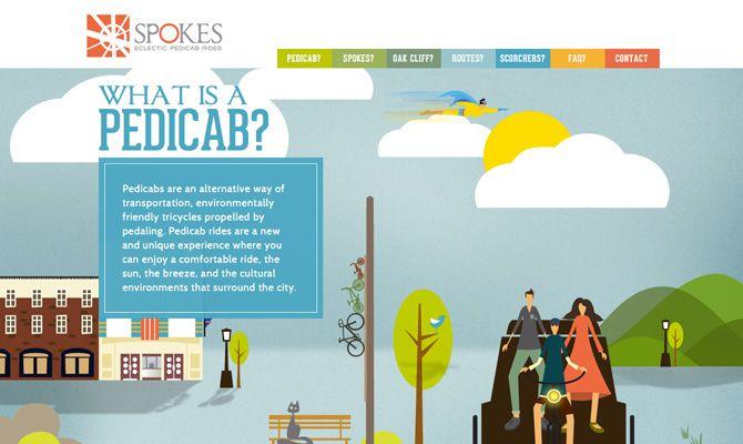 Hasil gambar untuk spoke pedicabs website
