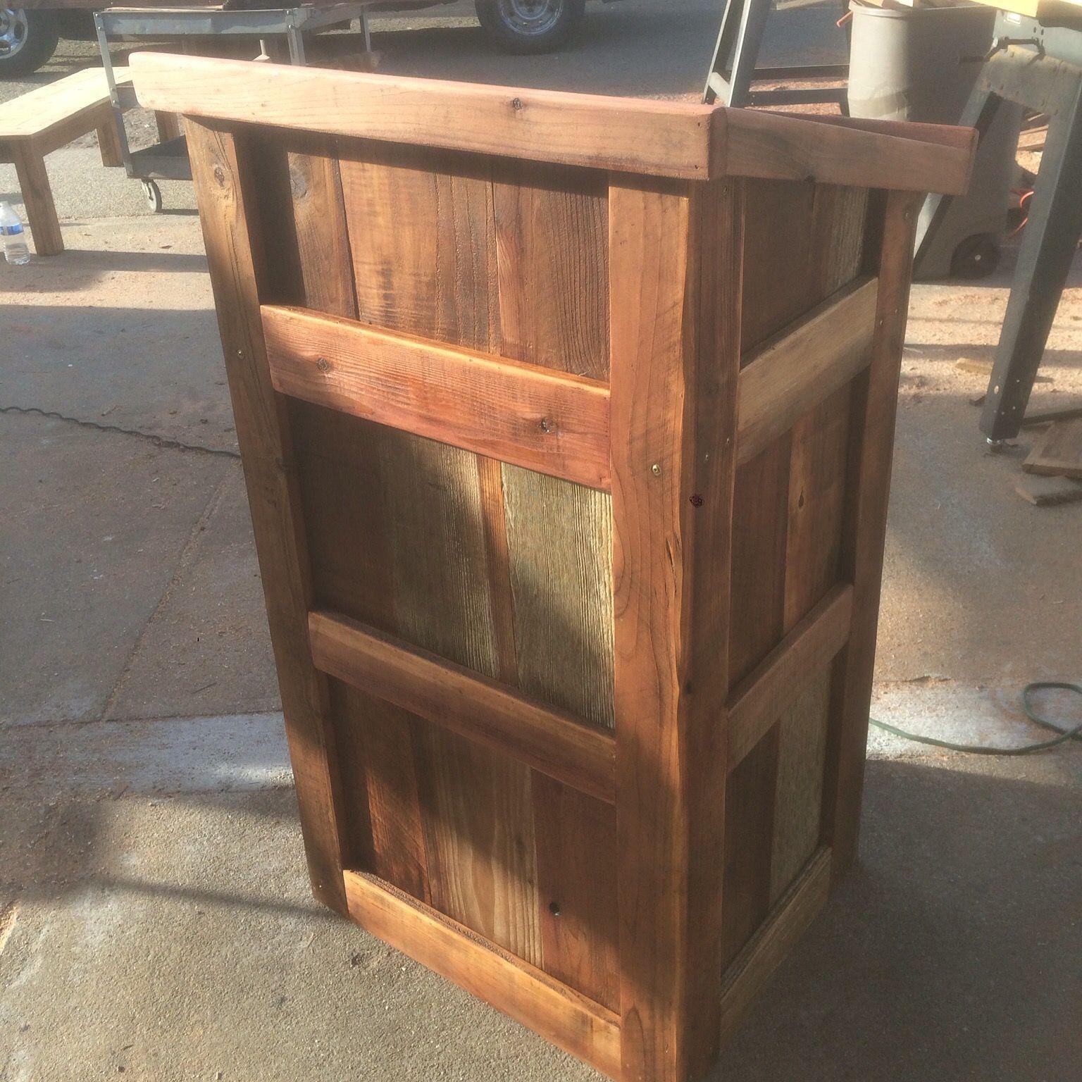 Custom Made Reclaimed Wood Podium