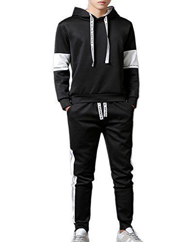 Hombres Chandal Dos Piezas Manga Larga Conjuntos Deportivos Sudaderas Con Capucha Pantalones Tracksuit Athletic Jacket Fashion