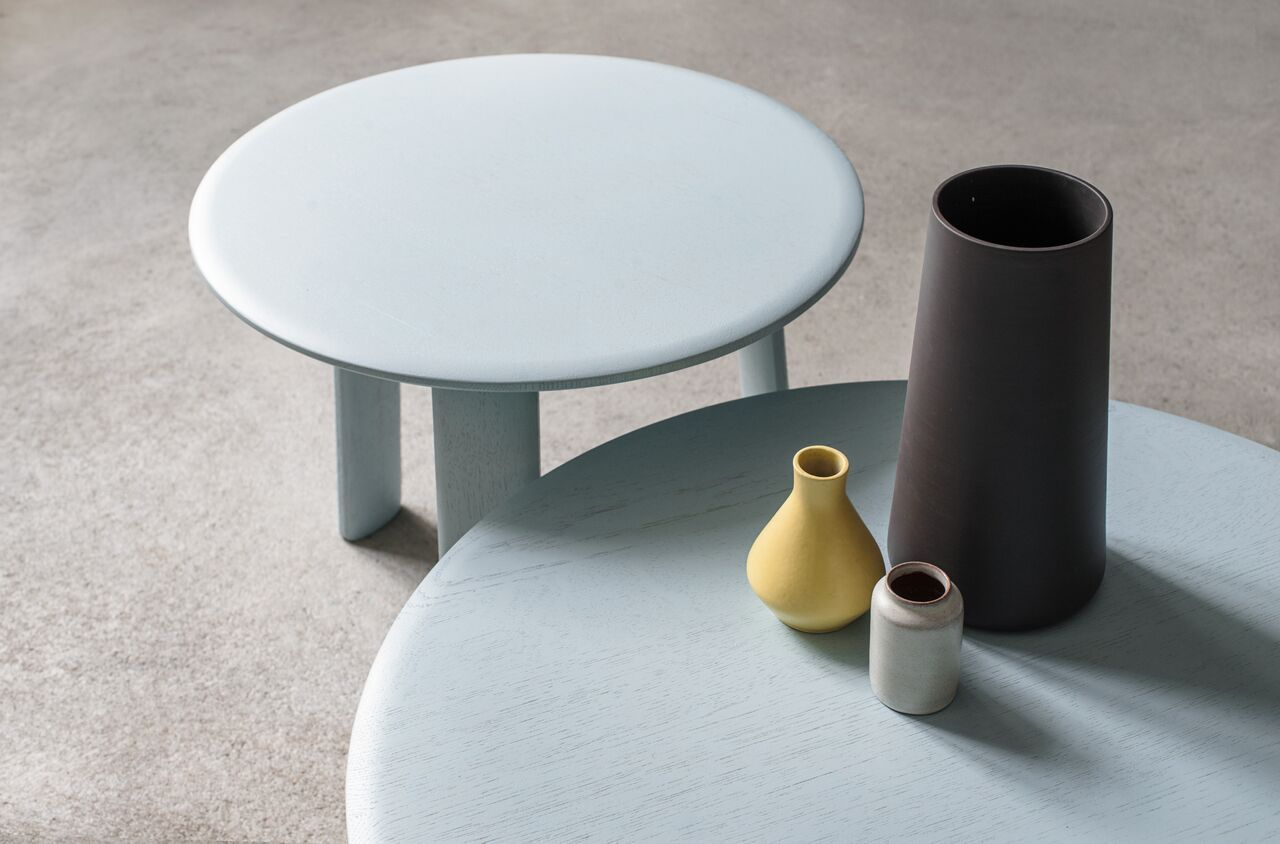 Alle Coffee Tables Light Blue By Staffan Holm For Hem