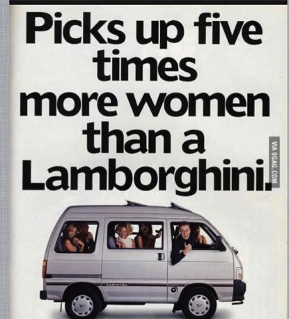 Picks up five times more women than a lamborghini