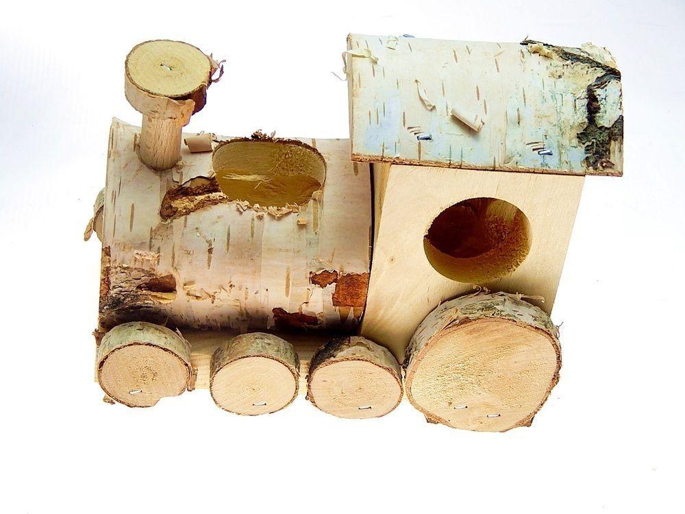 nager zubeh r lokomotive aus holz ideal als futterspender 14 cm alles pinterest riesen. Black Bedroom Furniture Sets. Home Design Ideas