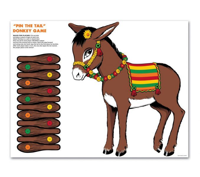pin the tail on the donkey game template