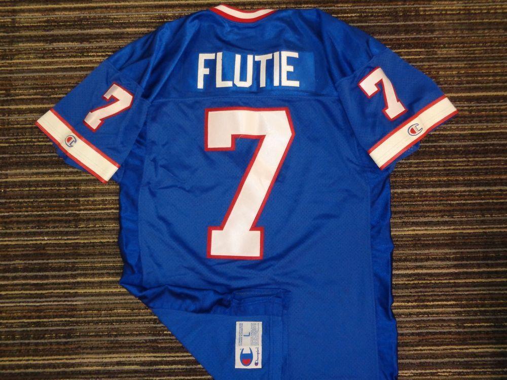 AUTHENTIC SEWN DOUG FLUTIE #7 BUFFALO BILLS NFL CFL CHAMPION LONG  free shipping
