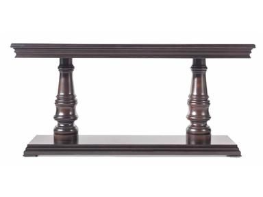 Drexel Heritage Burl Wood Parsons Sofa Table Console Image 5 Of