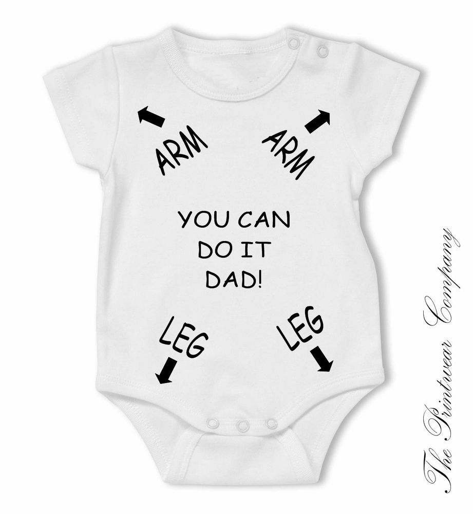 f5e031fe48b Dad Daddy Instruction Funny Novelty Baby Grow Bodysuit Vest Top Unisex All  Sizes  Unbranded