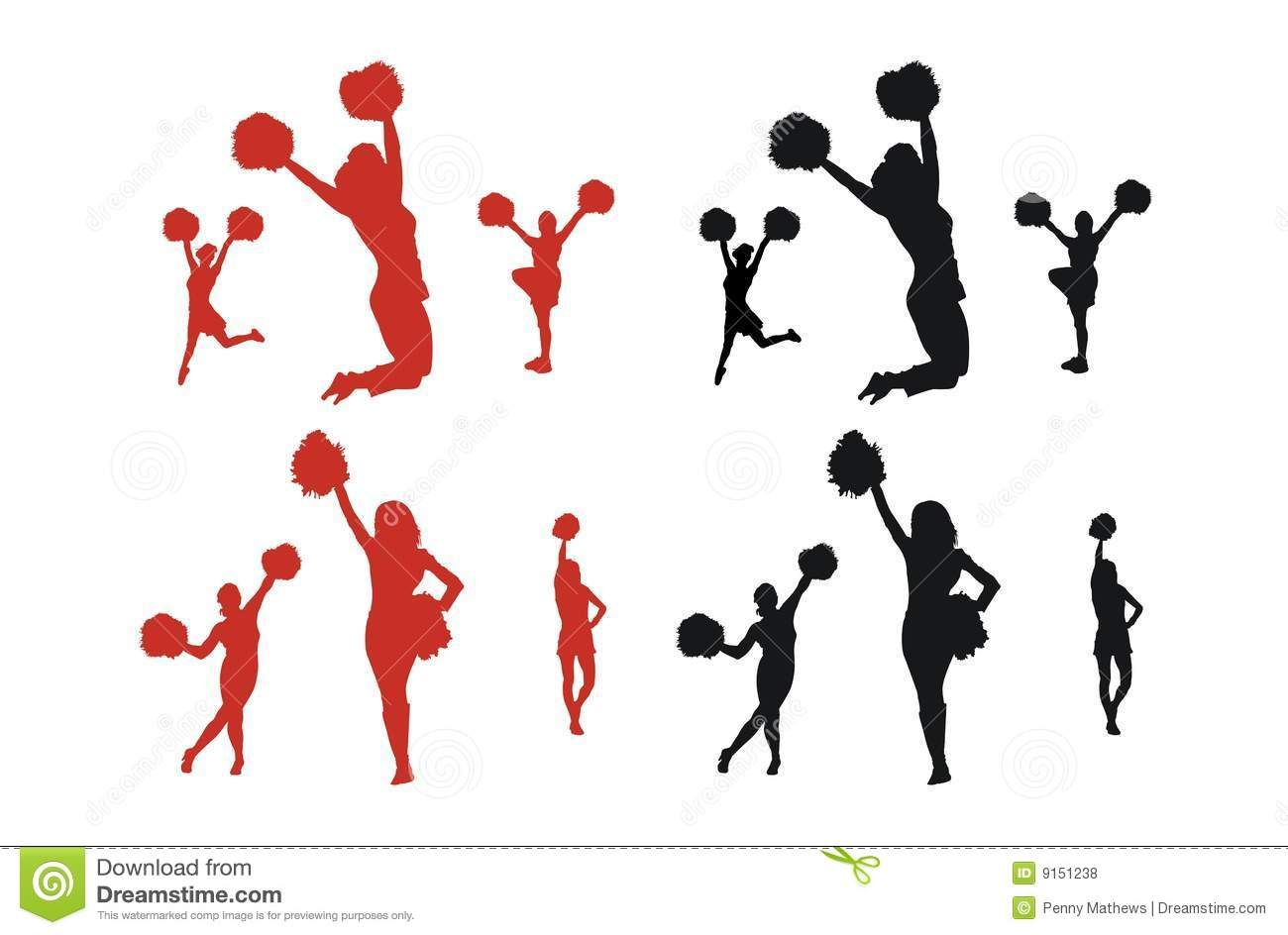 cheerleading toe touch silhouette free clipart college