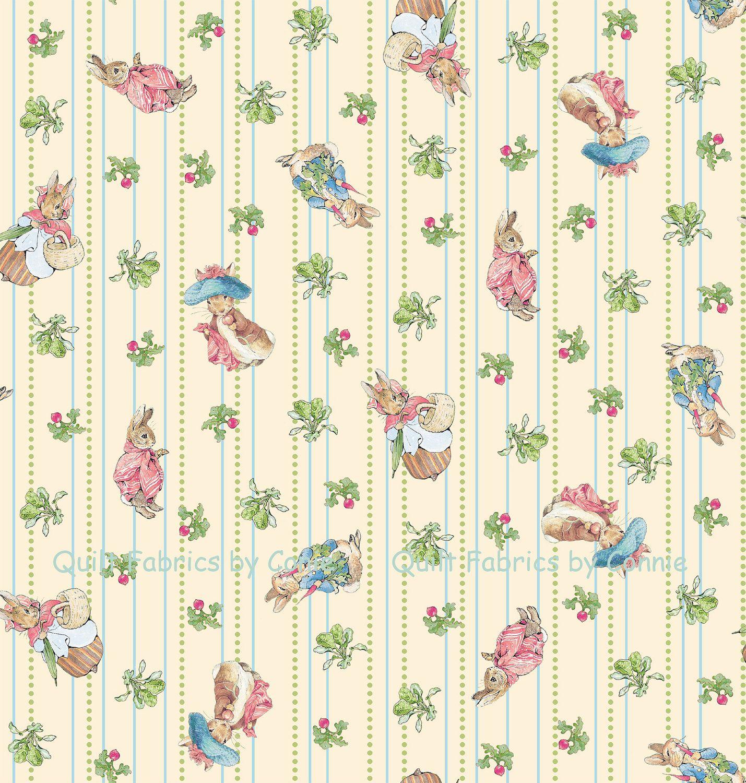 Beatrix potter garden tales fabric by quiltfabricsbyconnie - Peter rabbit nursery border ...