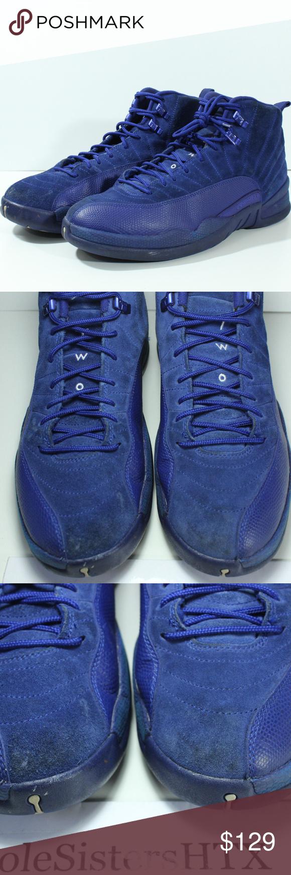 c04255488e58 Nike Air Jordan 12 XII Retro Deep Royal Blue Suede 100% Authentic Nike Air  Jordan