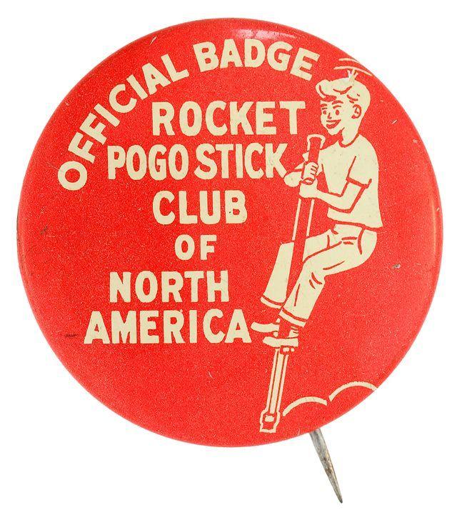 Pogo Stick Club Button Museum Pogo Stick Toys Vintage