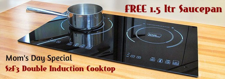 Ti 2b True Induction Counter Inset Double Burner Induction