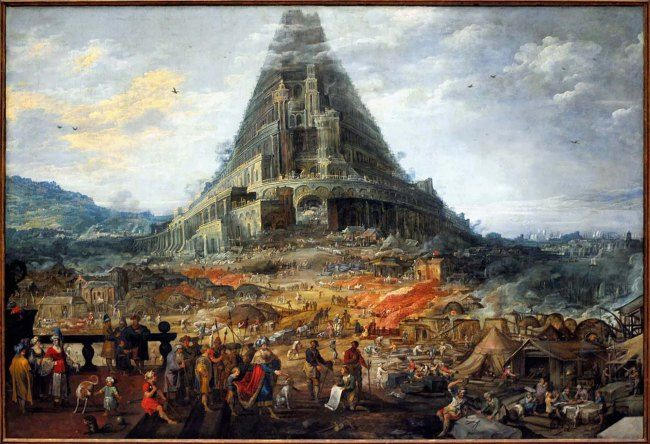 Frans Francken – Construction of the Tower of Babel c1630