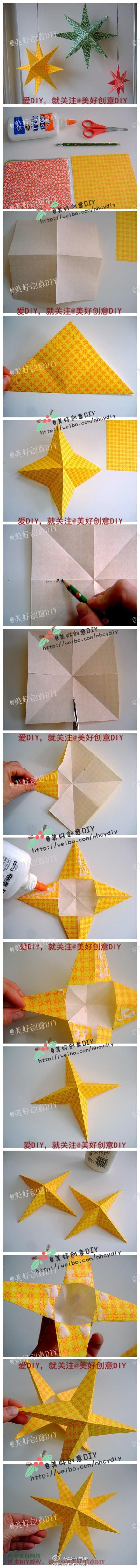 Dobbelt stjerne origami