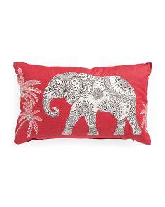 15x24 Elephant Print Pillow