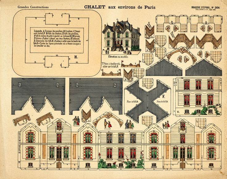 victorian paper house template - Google Search | Paper Toys