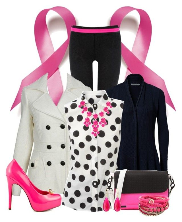 """Brest Cancer Awareness"" by kurlyglamour ❤ liked on Polyvore featuring moda, Oasis, Forever 21, Soaked in Luxury, Hobbs, Dolce Vita, French Connection, Dee Berkley y IWearPinkFor"