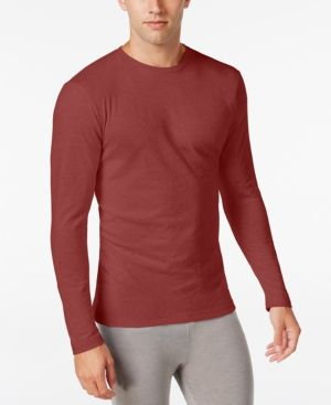 Alfani Men's Long-Sleeve Undershirt, Only at Macy's - Red M