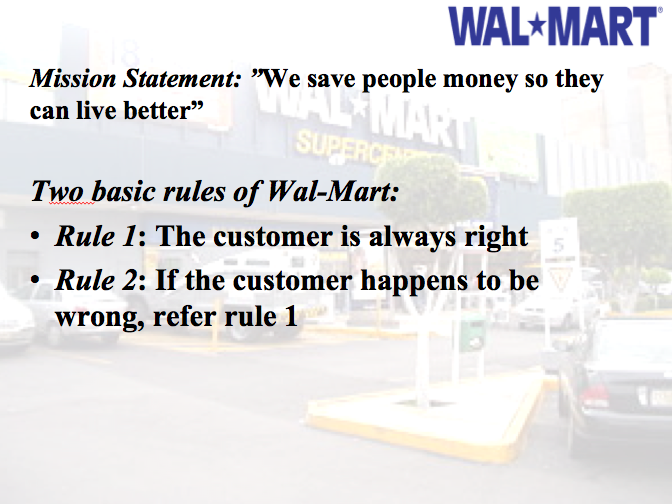 walmarts mission statement