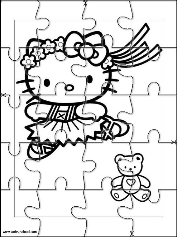 Printable jigsaw puzzles to cut out for kids Hello Kitty 5 Coloring - new coloring pages with hello kitty