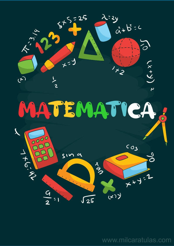 13 ideas de Portadas para Cuadernos de Matematicas | cuadernos de  matemáticas, portadas, matematicas