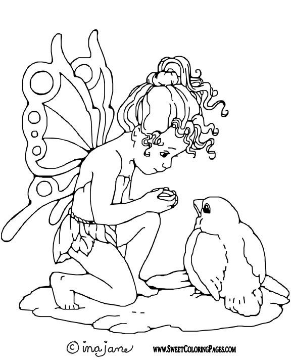 Fairy Coloring Pages - Bing Images