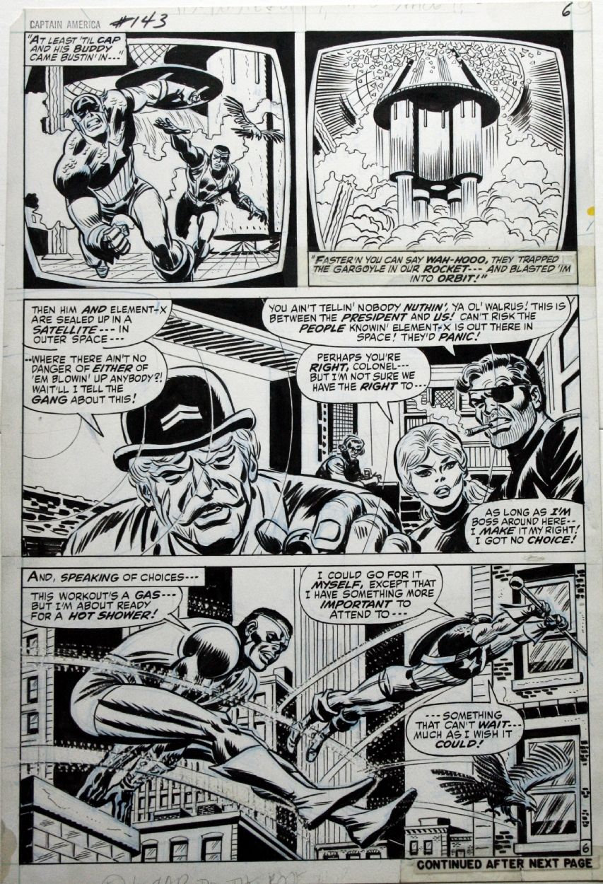 Captain America 143 p6 - Art by John Romita Sr.