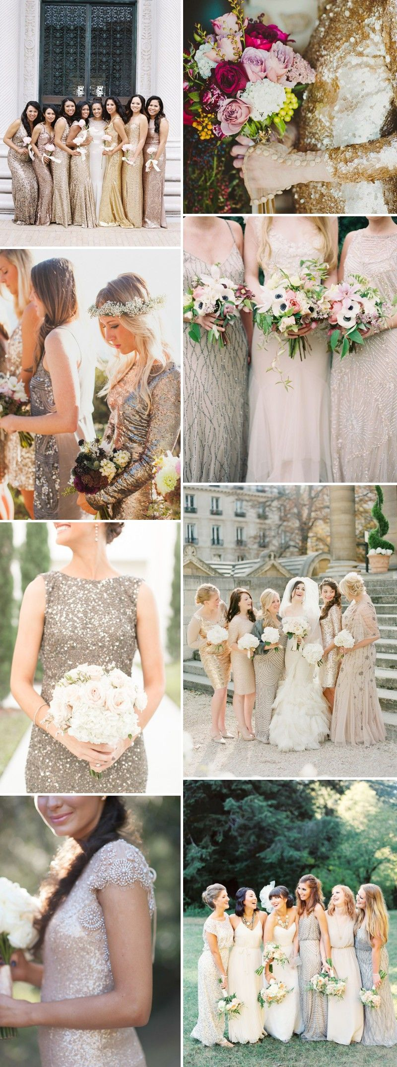 Four beautiful bridesmaid trends for including metallics