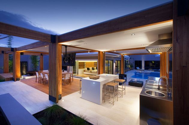 Luxury hillarys landscape project by ritz exterior design adelto