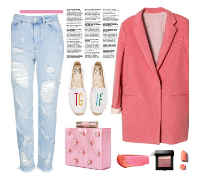 """""""Pink"""" by missiny ❤ liked on Polyvore featuring Topshop, Katherine Kwei, Soludos, e.l.f., Bobbi Brown Cosmetics and PUR"""