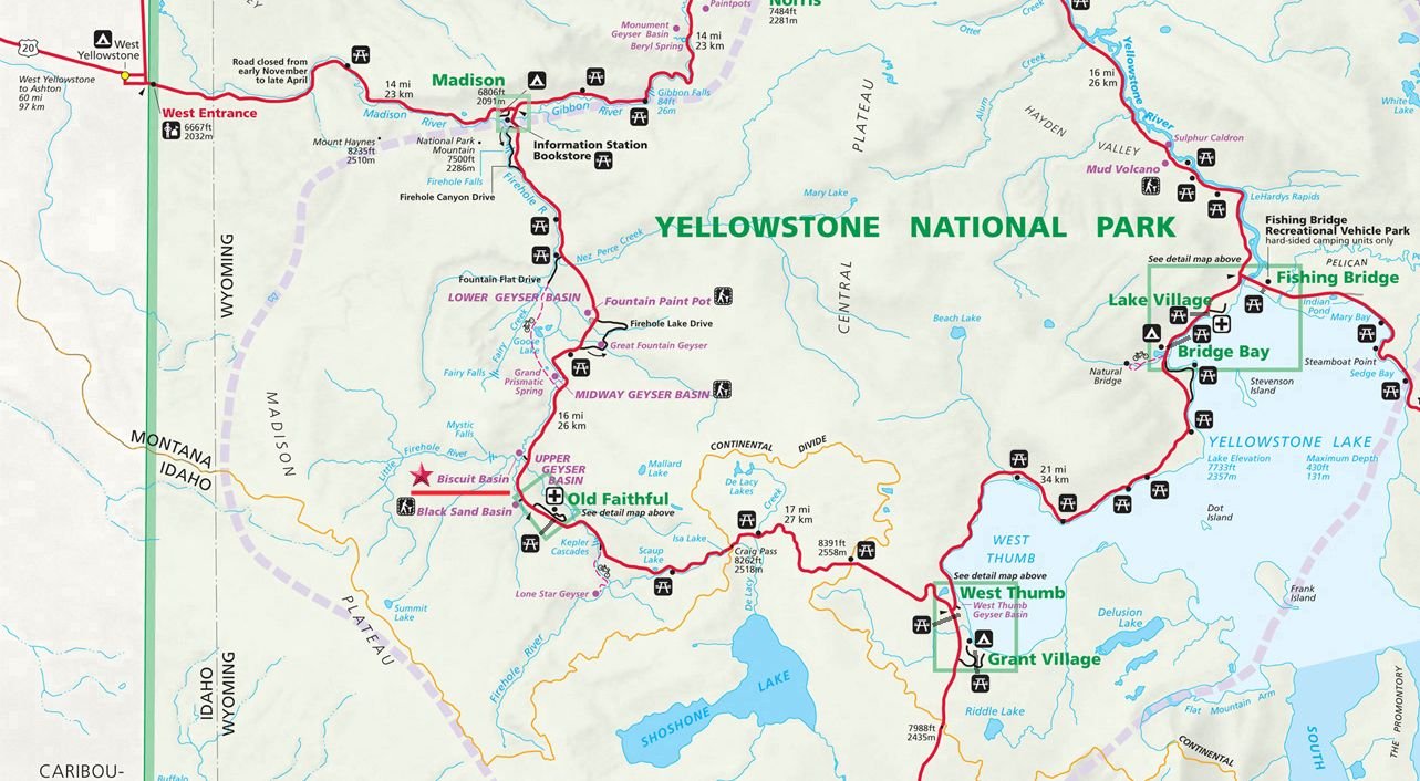 Biscuit Basin Map Yellowstone National Park Yellowstone National Park Yellowstone National Yellowstone Volcano