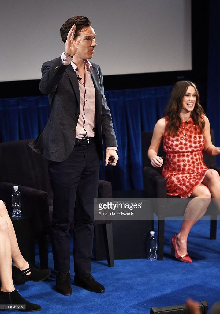 ニュース写真 : Actor Benedict Cumberbatch and actress Keira...