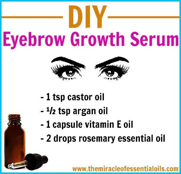 Diy Eyebrow Growth Serum For Thick Full Eyebrows Diy Skin Care