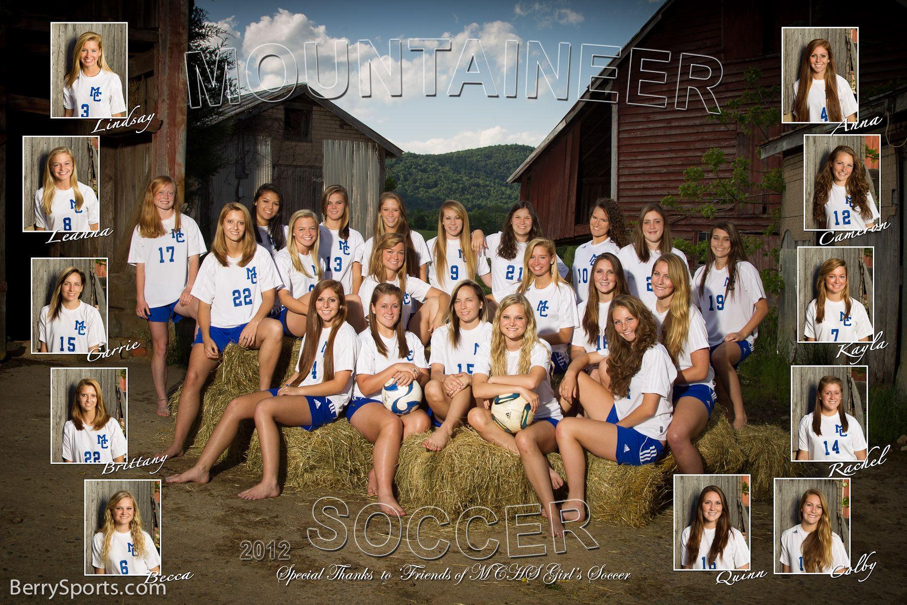 The 2012 Mchs Varsity Girl S Soccer Poster Soccer Photography Sports Team Photography Soccer Team Pictures