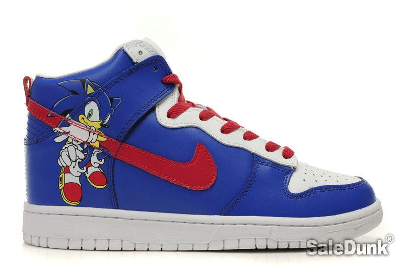 nike sonic the hedgehog | Model: DunkhighTops 383 Shipping