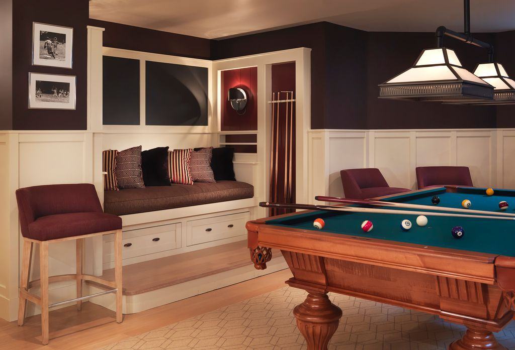 We may earn commission on some of the items you choose to buy. Traditional Game Room with Wall sconce, Pendant Light ...