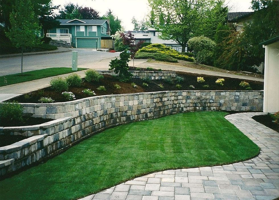 Landscaping Salem Oregon Davidson S Landscape Paver Walkway Retaining Wall Pavers Front Walkway