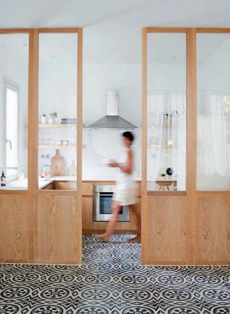 Une verrière intérieure pour cloisonner lu0027espace avec style Father - porte coulissante style atelier