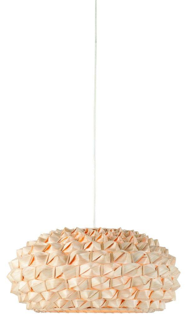 Lampa WiszĄca Sagano Bambus 50x25cm AbaŻur SpŁaszony